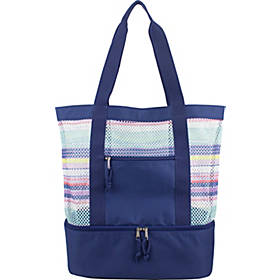 Eastsport Mesh Tote with Bottom Cooler Compartment