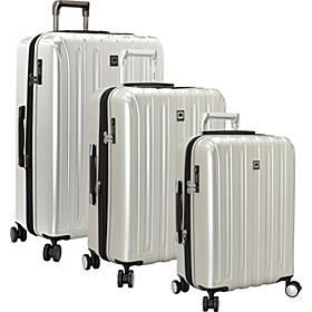 Delsey Helium Titanium 3 Piece Expandable Hardside Luggage Set