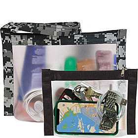 Flanabags TSA Travel Duo - Approved Clear Carry-on Quart Size 2 Bag Set