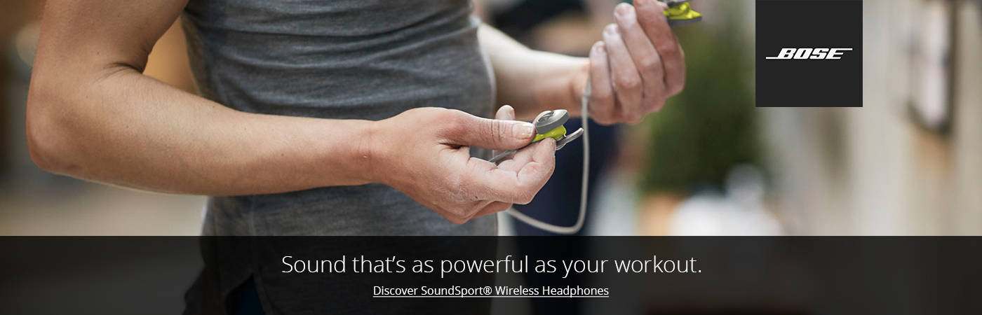 Discover Bose SoudSport Wireless. Shop Now.