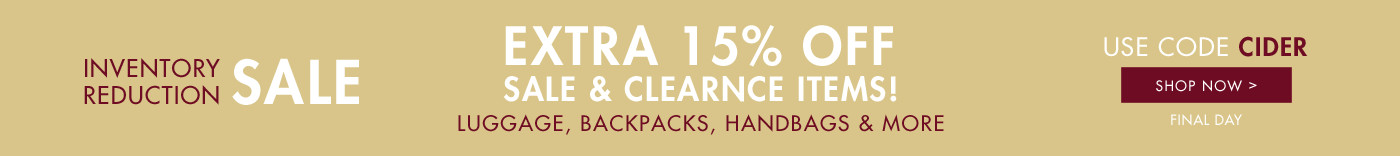 Inventory Reduction Sale - Extra 15% Off - Use Code: CIDER - Final Day - Shop Now