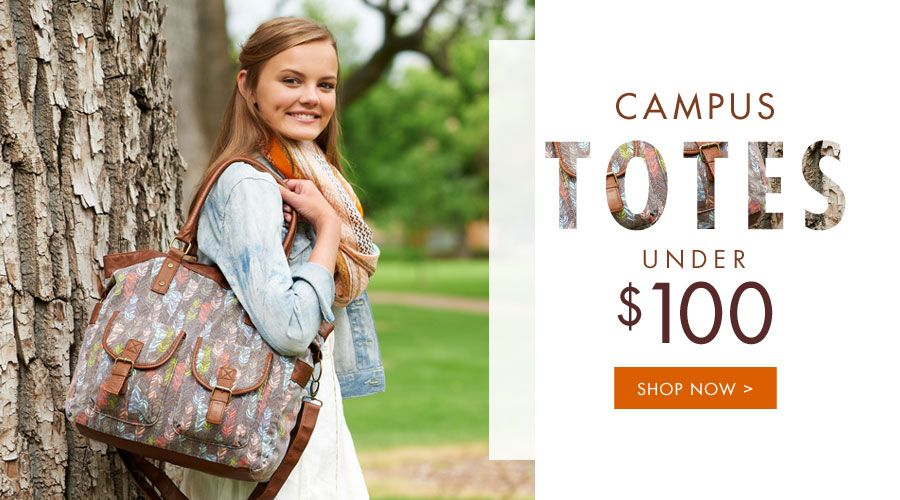 Campus Totes under $100 - Shop Now