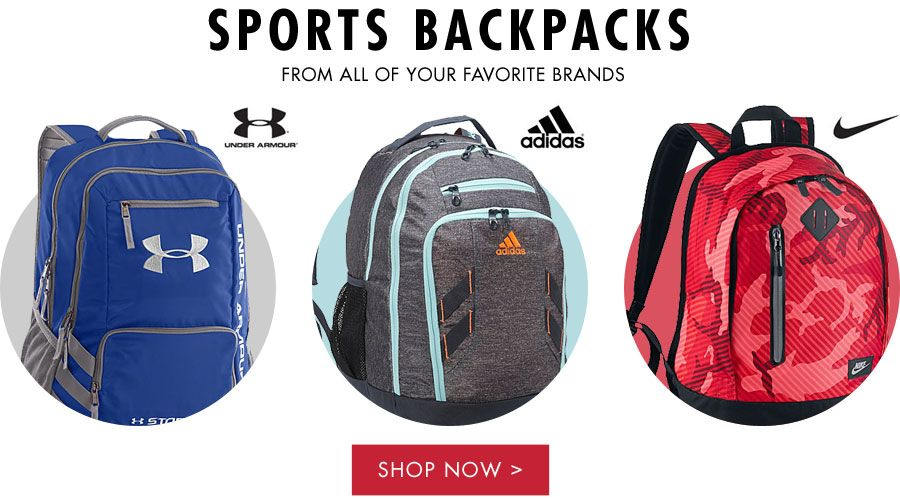 Sports Backpacks | From All of Your Favorite Brands | Shop Now