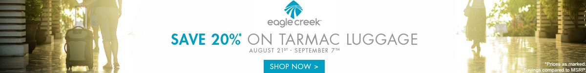 Eagle Creek | Save 20% on Tamarac Luggage | Shop Now