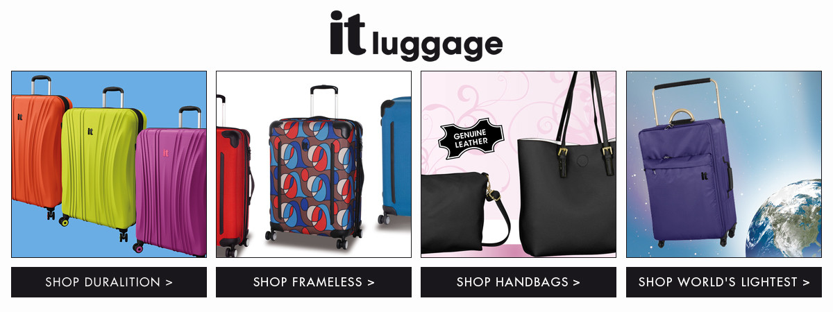 Shop IT Luggage Duralition, Frameless, Handbags, and World's Lightest