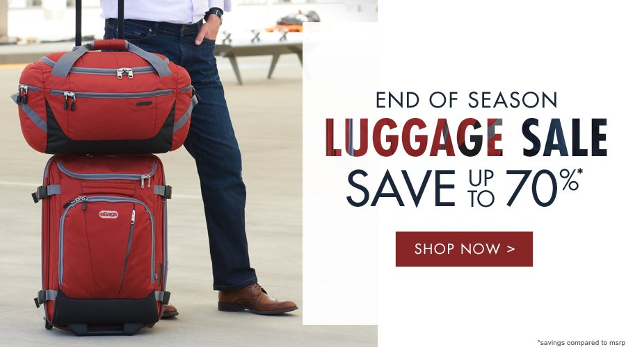 End of Season Luggage Sale | Save up to 70% | Shop Now