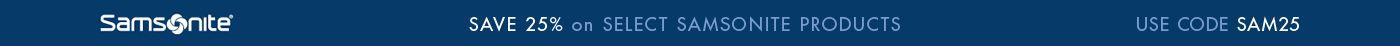 Save 25% on Samsonite Luggage & Suitcases with Code: SAM25