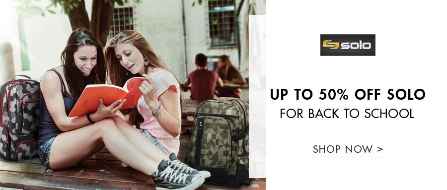Up to 50% off Solo for Back to School | Shop Now