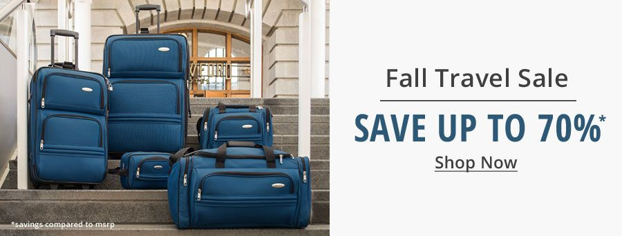 Fall Travel Sale | Save Up to 70% | Shop Now