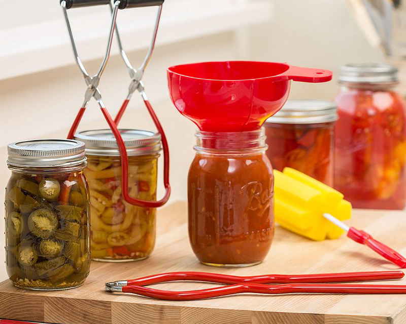 food stored in mason jars