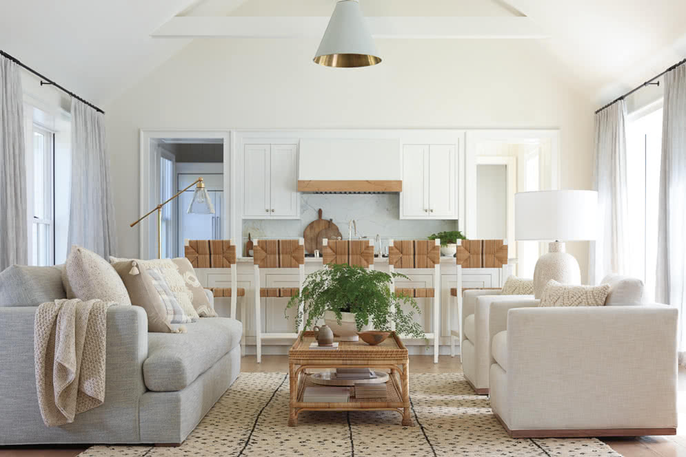 defining your home decor style - coastal living room