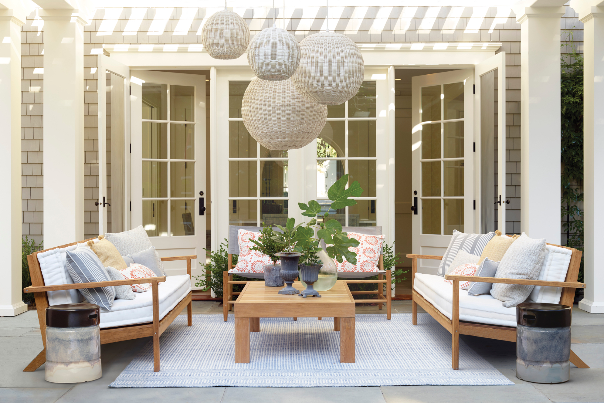 Outdoor living space - Serena and lily spring sale - pinteresting plans blog