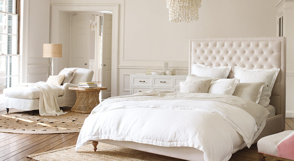 neutral bedroom inspiration - Serena and lily spring sale - pinteresting plans blog
