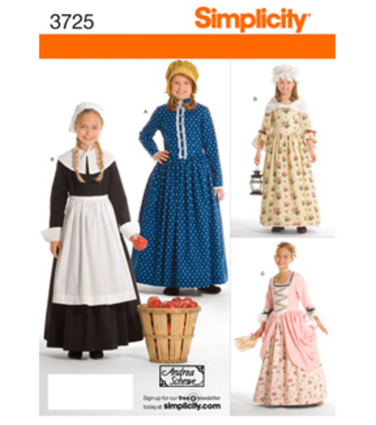 Victorian Kids Costumes & Shoes- Girls, Boys, Baby, Toddler Simplicity Pattern 3725K5 7 8 10 12 - Simplicit $10.79 AT vintagedancer.com
