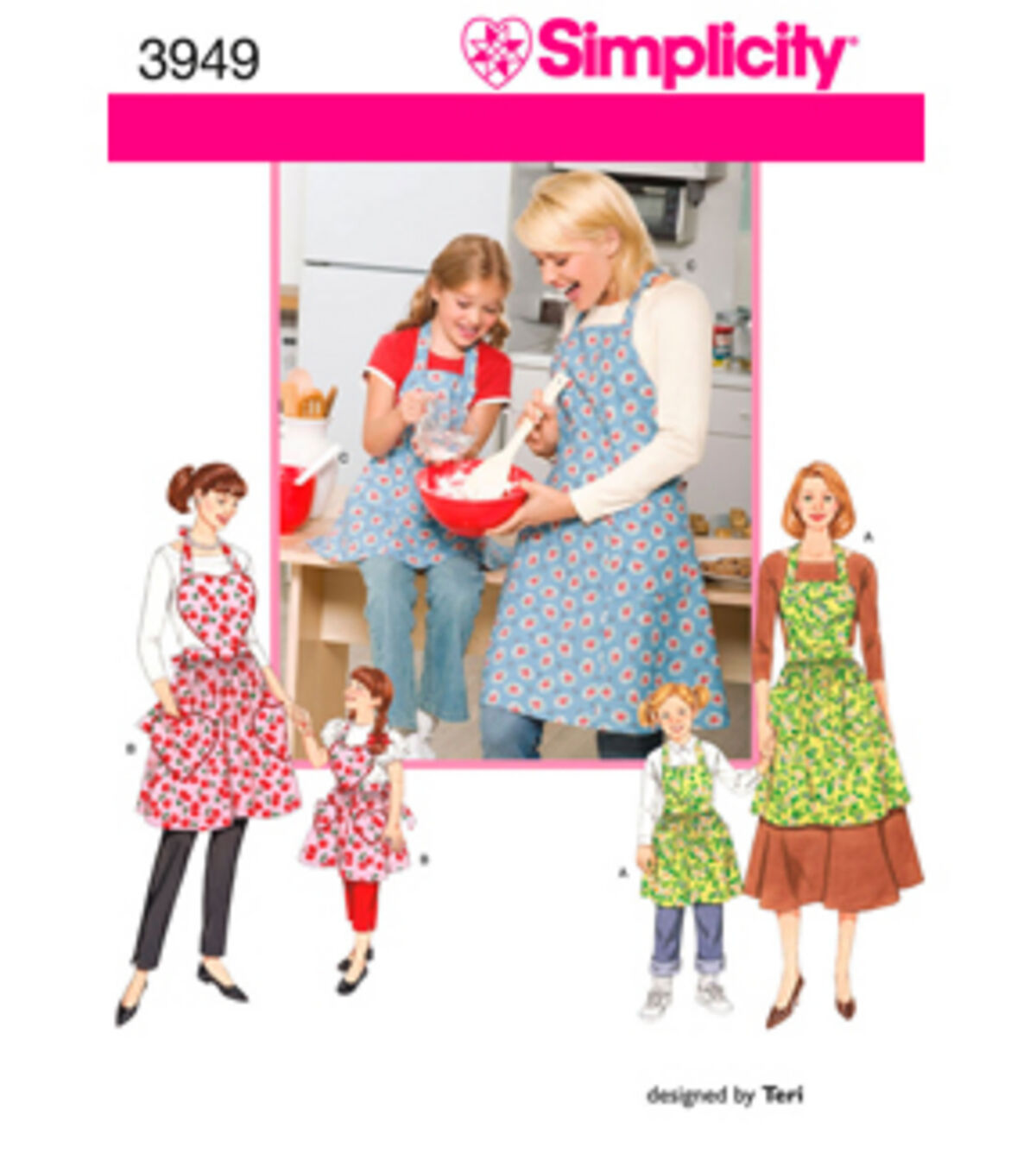 10 Things to Do with Vintage Aprons Simplicity Pattern 3949A S - M - L  S - - Simplicity Crafts $9.57 AT vintagedancer.com