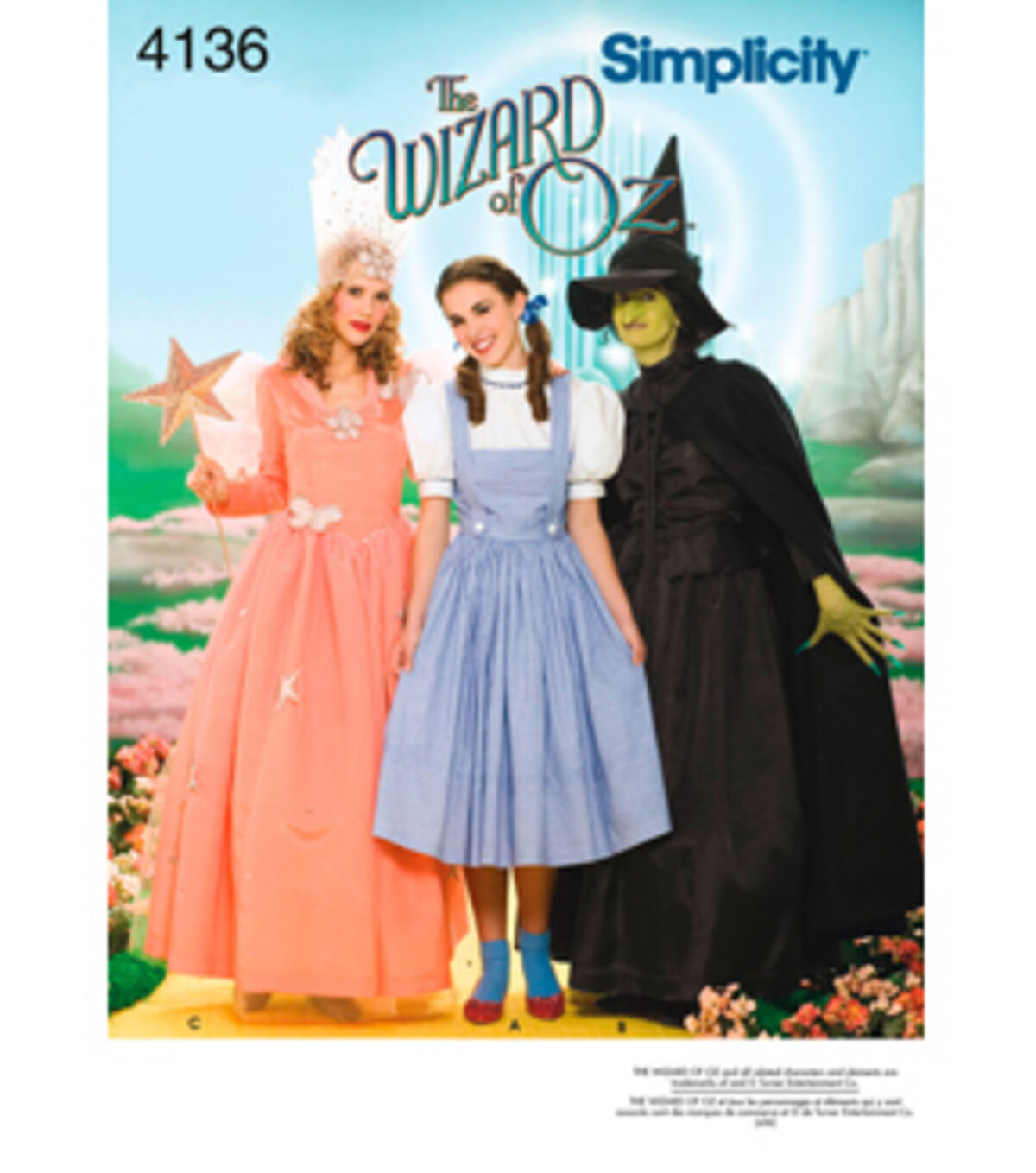 1940s Sewing Patterns – Dresses, Overalls, Lingerie etc Simplicity Pattern 4136 - Misses The Wizard of Oz Costumes - Sizes 6-8-10-12 $9.57 AT vintagedancer.com