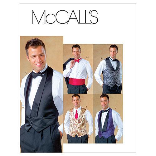 Men's Vintage Reproduction Sewing Patterns McCalls Mens Vest - M4321 $9.57 AT vintagedancer.com