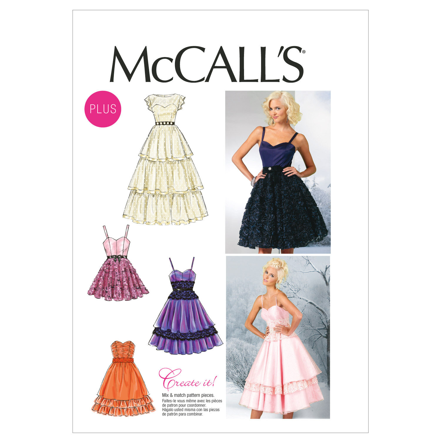 1950s Sewing Patterns | Dresses, Skirts, Tops, Mens McCalls Womens Special Occasion - M6646 $11.97 AT vintagedancer.com