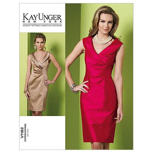 1960s – 70s Sewing Patterns- Dresses, Tops, Pants, Mens Vogue Patterns Misses Dress - V1182 $18.00 AT vintagedancer.com