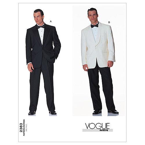 Men's Vintage Reproduction Sewing Patterns Vogue Patterns Mens Suits - V2383 $15.00 AT vintagedancer.com