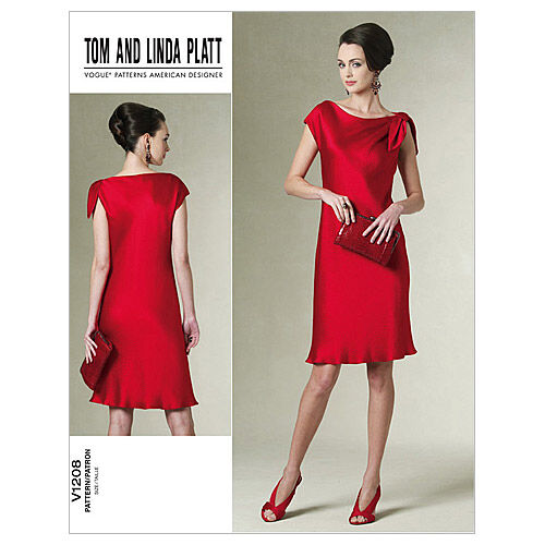 1960s – 70s Sewing Patterns- Dresses, Tops, Pants, Mens Vogue Patterns Misses Dress - V1208 $18.00 AT vintagedancer.com