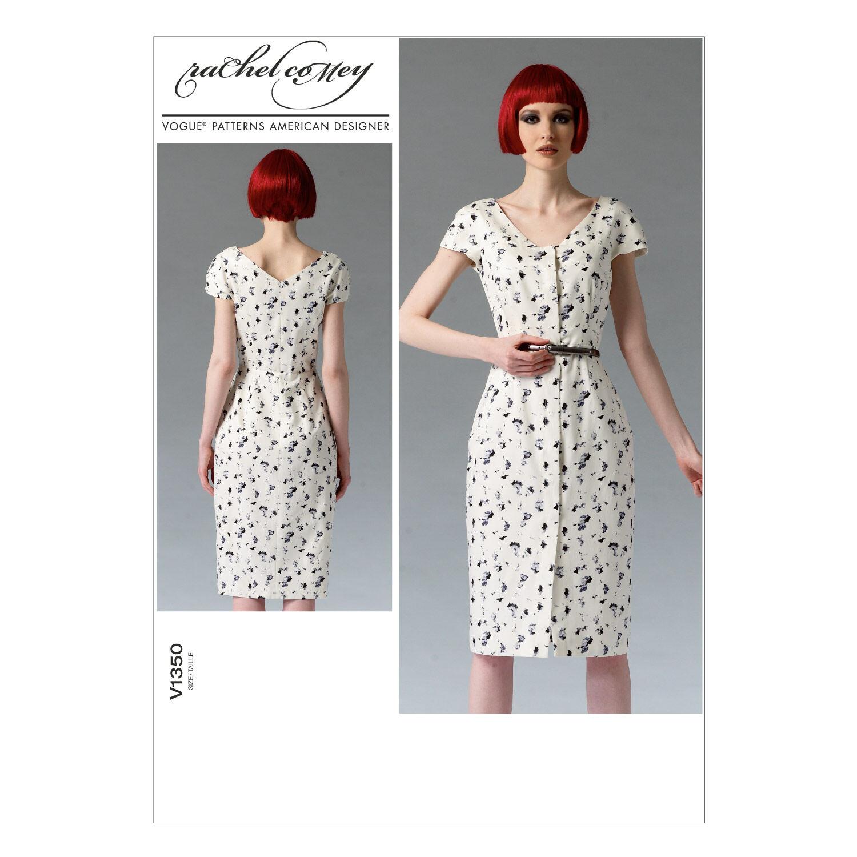1960s – 70s Sewing Patterns- Dresses, Tops, Pants, Mens Vogue Patterns Misses Dress - V1350 $19.20 AT vintagedancer.com