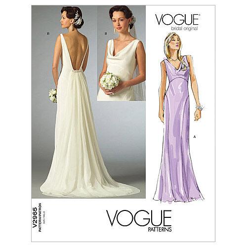 1930s Wedding History Vogue Patterns Misses Bridal - V2965 $16.50 AT vintagedancer.com
