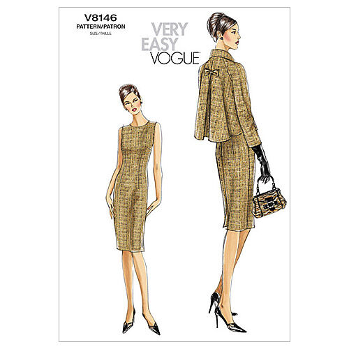 Vintage Coats & Jackets | Retro Coats and Jackets Vogue Patterns Misses Jacket Dresses - V8146 $11.37 AT vintagedancer.com