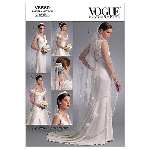 1930s Wedding History Vogue Patterns Misses Bridal - V8569 $15.00 AT vintagedancer.com