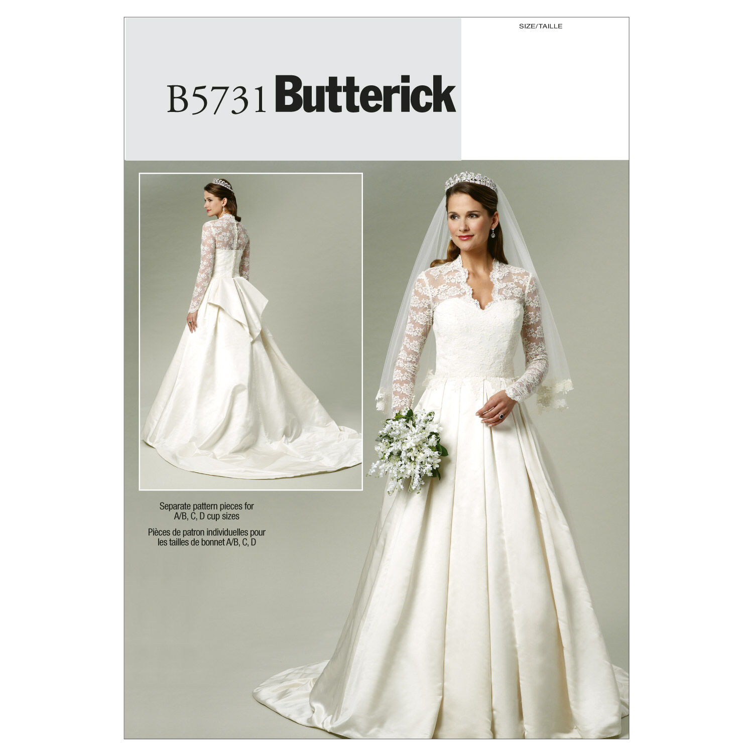 1940s Fabrics and Colors in Fashion Butterick Misses Bridal - B5731 $11.97 AT vintagedancer.com