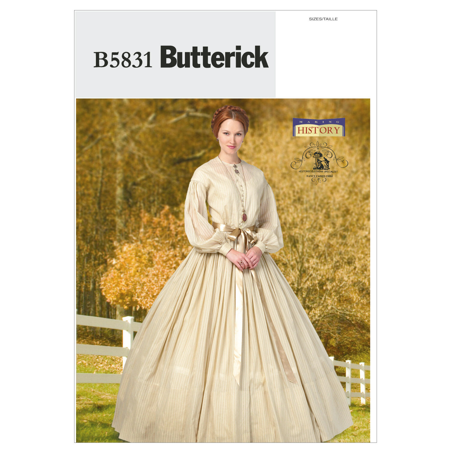 Steampunk Sewing Patterns- Dresses, Coats, Plus Sizes, Men's Patterns Butterick Misses Historical Costumes - B5831 $11.97 AT vintagedancer.com