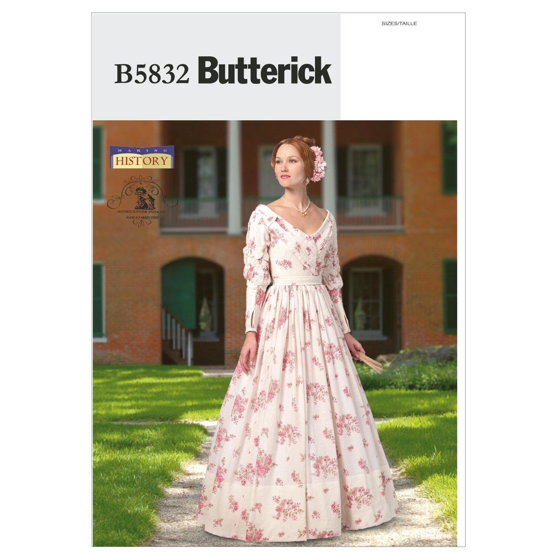 Steampunk Sewing Patterns- Dresses, Coats, Plus Sizes, Men's Patterns Butterick Misses Historical Costumes - B5832 $11.97 AT vintagedancer.com