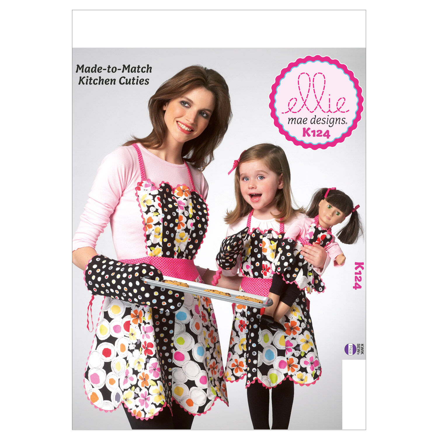 10 Things to Do with Vintage Aprons Kwik Sew Mother  Daughter Aprons - K0124 $9.59 AT vintagedancer.com
