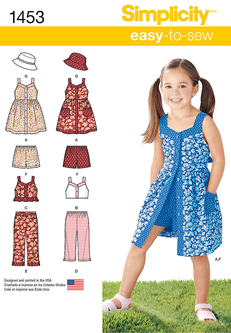 Kids 1950s Clothing & Costumes: Girls, Boys, Toddlers Simplicity Pattern 1453A 3 - 4 - 5 - 6 - 7 - - Child Sportswear $9.57 AT vintagedancer.com