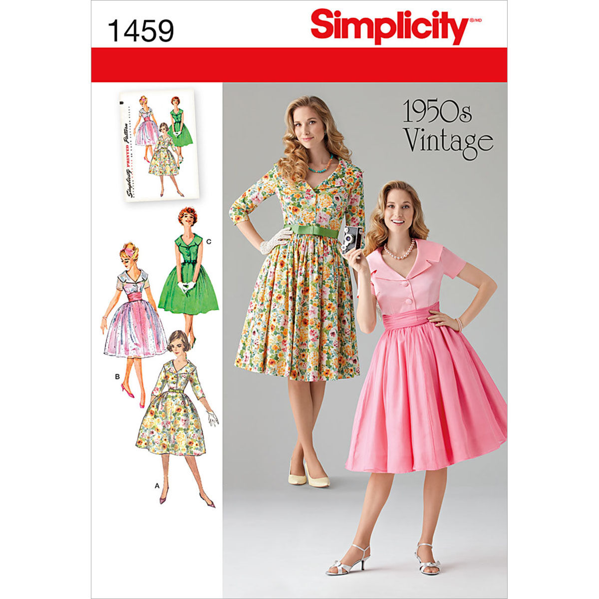 1950s Sewing Patterns | Dresses, Skirts, Tops, Mens Simplicity Pattern 1459K5 8 - 10 - 12 - 14 - Misses Dresses $11.37 AT vintagedancer.com