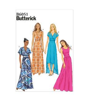 1960s – 70s Sewing Patterns- Dresses, Tops, Pants, Mens 1970 Butterick Misses Dress - B6051 $11.37 AT vintagedancer.com