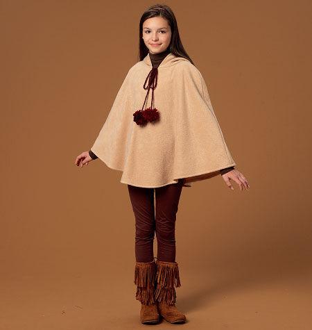 60s 70s Kids Costumes & Clothing Girls & Boys McCalls Girls Outerwear - M7012 $10.77 AT vintagedancer.com