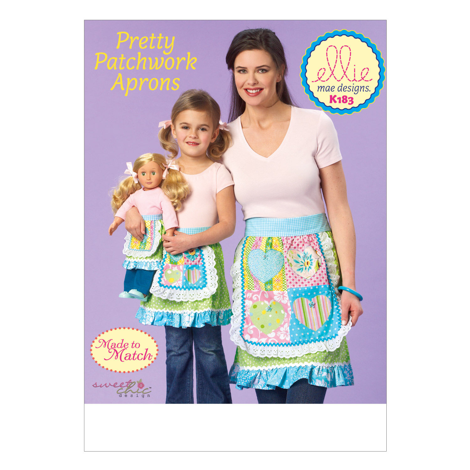 10 Things to Do with Vintage Aprons Kwik Sew Pattern K0183 Misses  Girls Aprons $7.19 AT vintagedancer.com