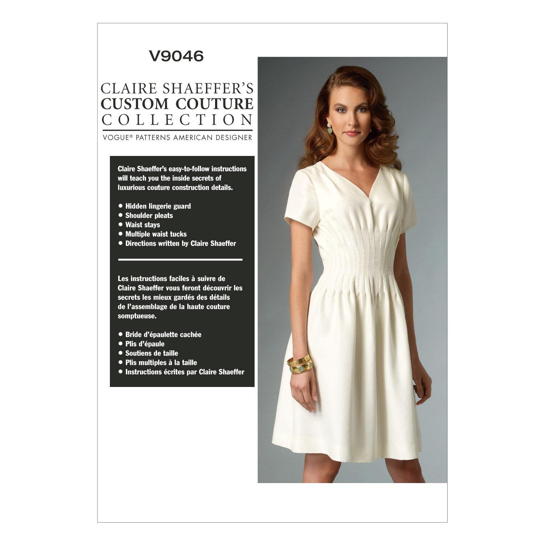 1940s Sewing Patterns – Dresses, Overalls, Lingerie etc Vogue Patterns Misses Dress - V9046 $18.00 AT vintagedancer.com