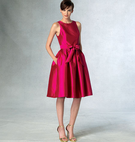 1960s – 70s Sewing Patterns- Dresses, Tops, Pants, Mens Vogue Patterns Misses Dress - V1434 $19.20 AT vintagedancer.com