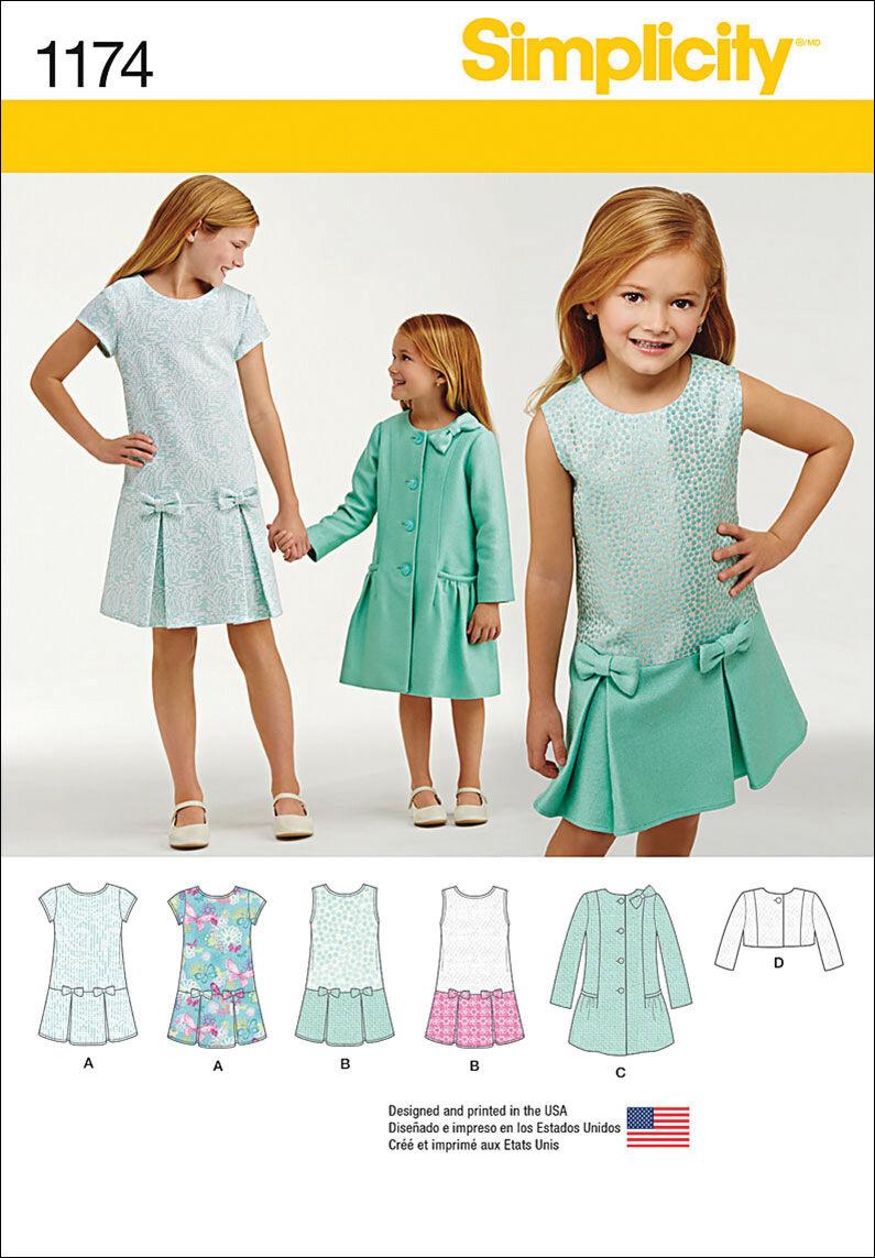 60s 70s Kids Costumes & Clothing Girls & Boys Simplicity Pattern 1174HH 3 - 4 - 5 - 6 - Children $9.57 AT vintagedancer.com