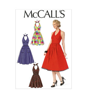 1950s Sewing Patterns | Dresses, Skirts, Tops, Mens McCalls Pattern - M7157 - A50 Misses Dresses - 6 - 8 - 10 - 12 - 14 - Sewing Supplies - Patterns $11.97 AT vintagedancer.com