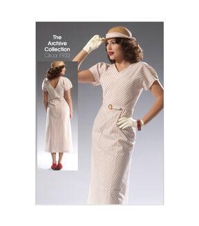 1930s Sewing Patterns- Dresses, Pants, Tops McCalls Misses Dress - M7153 $11.97 AT vintagedancer.com