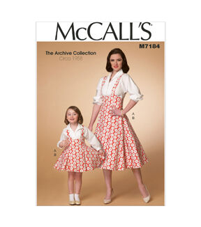 1950s Sewing Patterns | Dresses, Skirts, Tops, Mens 1958 McCalls Mother  Daughter Dress - M7184 $11.97 AT vintagedancer.com
