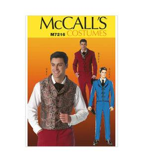 Steampunk Sewing Patterns- Dresses, Coats, Plus Sizes, Men's Patterns McCalls Mens Historical Costumes - M7216 $11.97 AT vintagedancer.com