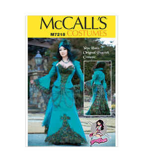 Steampunk Sewing Patterns- Dresses, Coats, Plus Sizes, Men's Patterns McCalls - Pattern M7218 - Yaya Han Peacock Jacket Corset and Skirt - Sizes 6-8-10-12-14 - Patterns - At JOANN Fabrics  Crafts $13.17 AT vintagedancer.com