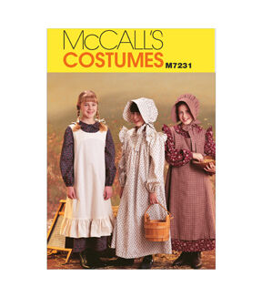 Victorian Kids Costumes & Shoes- Girls, Boys, Baby, Toddler McCalls - Pattern M7231 - Girls Pioneer Costumes - Sizes 14-16 - Kids - At JOANN Fabrics  Crafts $8.37 AT vintagedancer.com