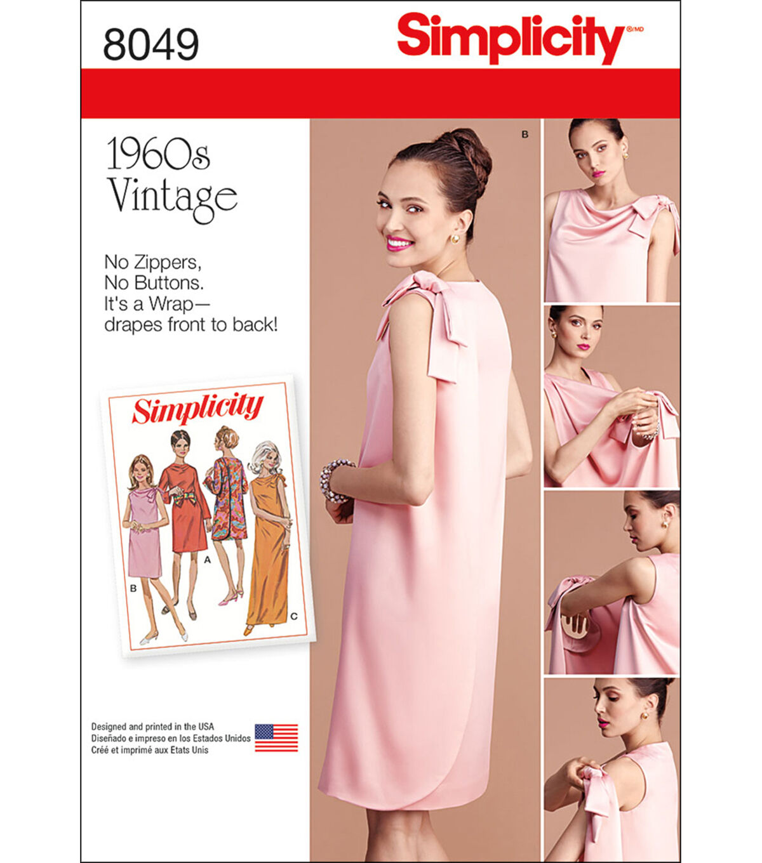 1960s – 70s Sewing Patterns- Dresses, Tops, Pants, Mens Simplicity Misses Vintage 1960S Three Armhole Dress - 8 - 10 - 12 - 14 - 16 $11.37 AT vintagedancer.com