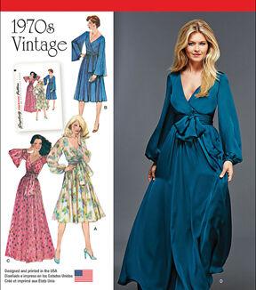 1960s – 70s Sewing Patterns- Dresses, Tops, Pants, Mens Simplicity Patterns Us8013H5 - Simplicity Misses Vintage 1970S Dresses - 6 - 8 - 10 - 12 - 14 $11.97 AT vintagedancer.com