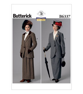 Edwardian Sewing Patterns- Dresses, Skirts, Blouses, Costumes Butterick Misses Historical Costumes - B6337 $11.97 AT vintagedancer.com